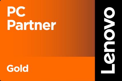 Logo pc Partner gold Lenovo